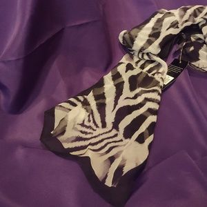 NICOLE MILLER Zebra print 100% Silk scarf